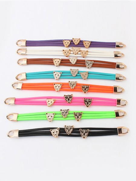 Occident Candy colors Summer Leopard head Gran venta Bracelets