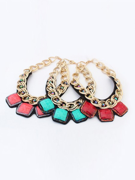 Occident Hyperbolic Metallic thick chains Personality Gran venta Collar